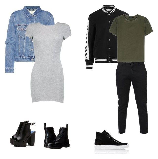 """""""SI Scroo 1"""" by darie-turie on Polyvore featuring Acne Studios, Boohoo, Dr. Martens, Off-White, Calvin Klein Collection, Department 5 и Common Projects"""