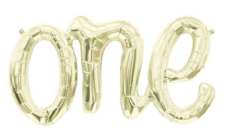 Back in Stock! ONE SCRIPT WHITE GOLD FOIL BALLOON GARLAND by Northstar - Makes a fabulous banner background to your sweets table or party set up. Sold by Bonjour Fete - A party supply boutique. Check out our store for more inspiration and ideas! A First birthday must have!
