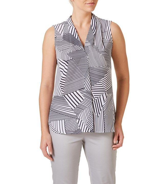 W.Lane Multidirectional Stripe Top