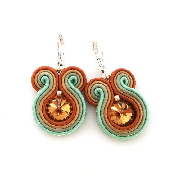 Soutache Ohrringe rustikale Hochzeitsschmuck von SaboDesign