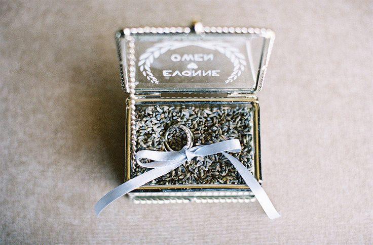 Lavender Filled Ring Box Photography - featherandstone.com.au