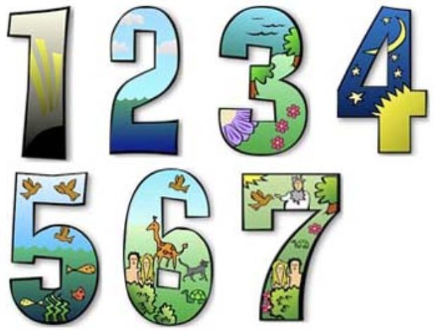 Printable Days Of Creation Numbers