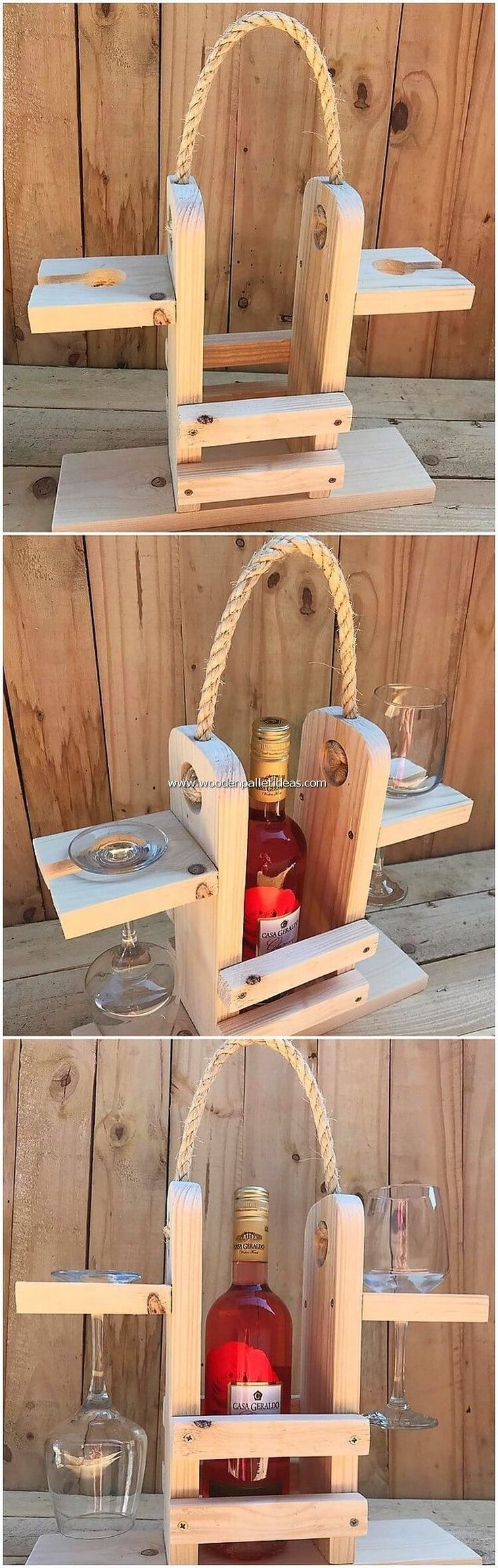 Naja nichts kann sich besser anfühlen als die Weinflaschenhalteranordnung aus … #WoodWorking