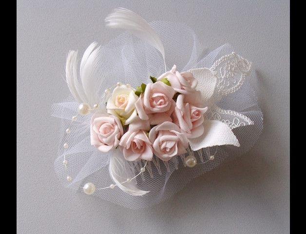 hairflowers pale pink roses