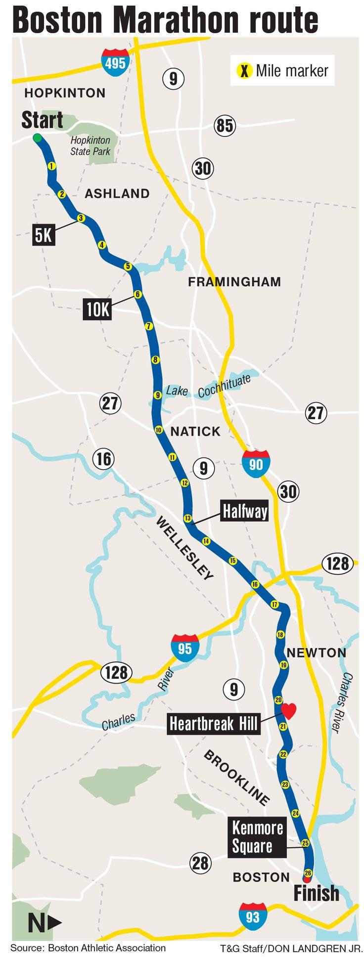 Best Boston Marathon Map Ideas On Pinterest Boston Marathon - Chicago marathon map 2016