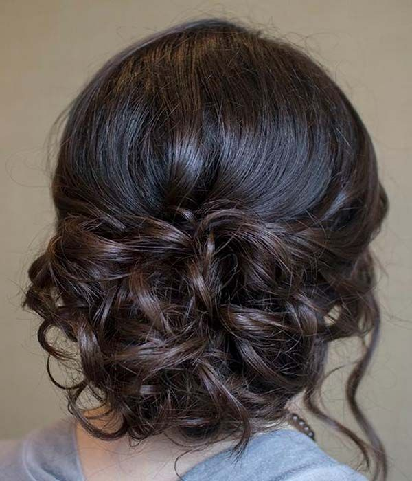 Updo hairstyles for strapless dress with long hair as well military