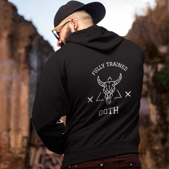 GOTHIC CLOTHING Hoodie Gothic Halloween Occult Witchcraft Gift for Her Long Distance Relationship Boyfriend Gift Birthday Gift Fully Goth