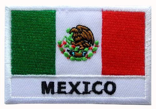 Mexico Mexican Flag DIY Applique Embroidered Sew Iron on Patch ** Read more  at the image link.