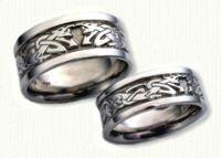 Celtic Dragon Knot Wedding Rings - custom celtic wedding rings @ best prices!