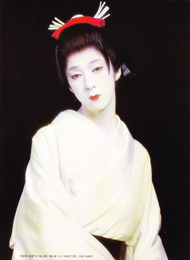 onnagata ~ male kabuki actors playing female roles. Beautiful <3