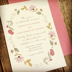 New Wedding Invitation Designs for Fall | The Elli Blog