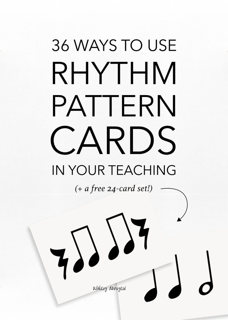 60 Ways To Use Rhythm Pattern Cards In Your Teaching Music Lesson Beauteous Rhythm Patterns
