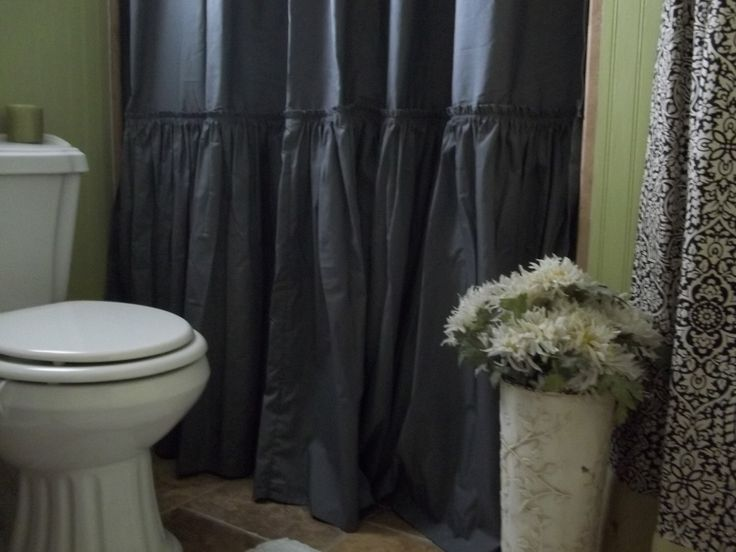 Shabby Chic Ruffled - Charcoal Gray Shower Curtain by SimplyFrenchMarket on Etsy https://www.etsy.com/listing/126948710/shabby-chic-ruffled-charcoal-gray-shower