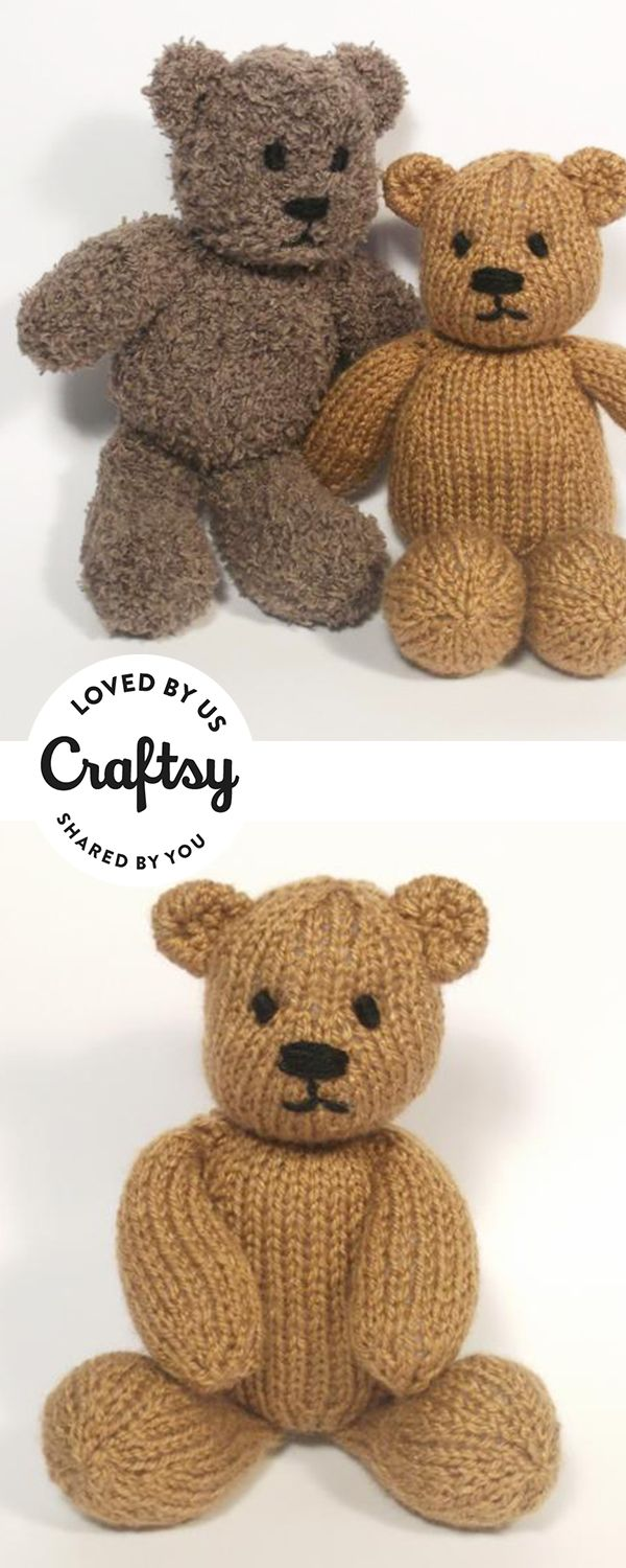 These Knitted Teddy Bear Stuffed Animals Are Too Cute It's From A Maker  Just Like