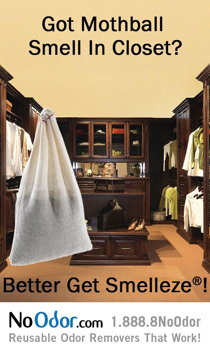 Smelleze Reusable Mothball Smell Deodorizer Pouch Pets