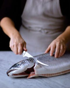 No one said you have to catch the fish, but if you're up for a challenge, try skinning and filleting it yourself.