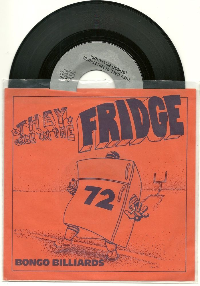 SOLD - 1985 THEY CALL IN THE FRIDGE Chicago Bears record & sleeve WIlliam Perry