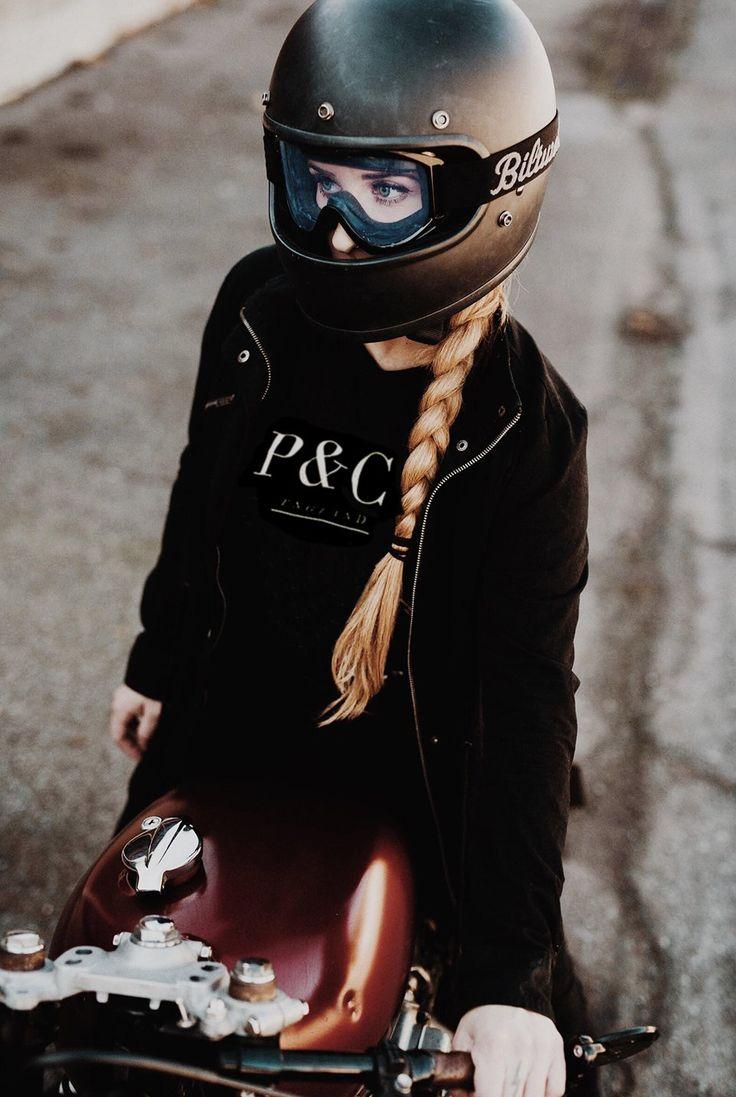 Bell Motorcycle Helmet >> Pin by Super Car Center on Cool Cars | Cafe racer helmet, Cafe racer girl, Motorbike girl