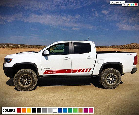 Decal Sticker Door Stripe Kit For Chevrolet Colorado Blind Spot