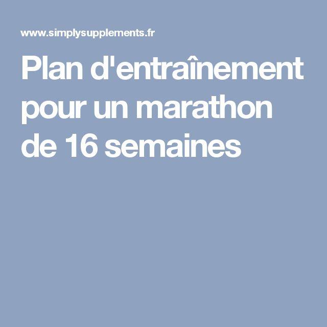 Plan d'entraînement pour un marathon de 16 semaines