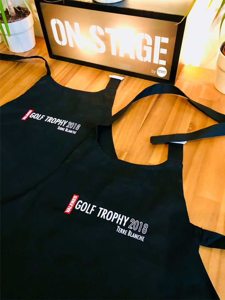 konceptshirt#1jour1projet réalisation de tabliers brodés pour le Valeres Golf Trophy. Direction le Luxembourg ;) #tabliers #personnalisés #golf #trophy #luxembourg #productionoftheday #bykonceptshirt
