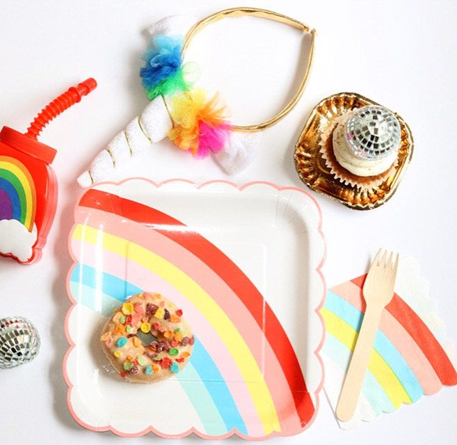 A personal favorite from my Etsy shop https://www.etsy.com/ca/listing/537851363/rainbow-small-napkins-rainbow-birthday