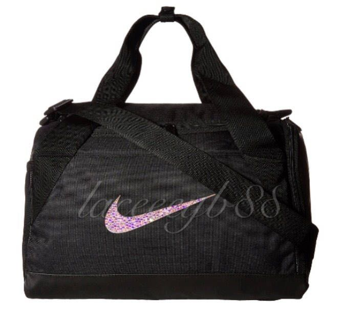 e893ca8b41f2 Bling Swarovski Nike Duffel Bag-Black