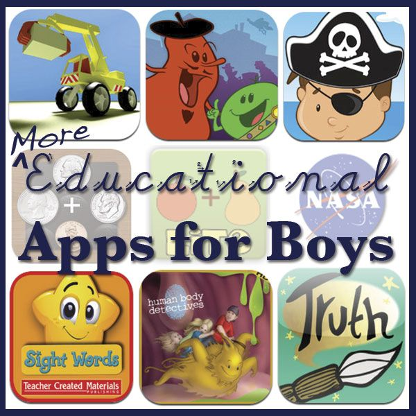 Educational Apps for Boys MOBSociety homeschool, for when we get an ipad....