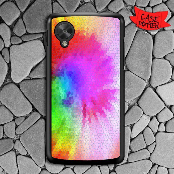 Tie Dye Stained Glasses Nexus 5 Black Case