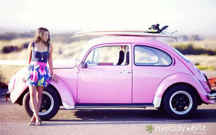 Love this shot! I've always wanted an old bug...plus this girl is cute, and the composition and lighting is just plain fantastic!