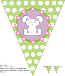 vous pourrez créer une banderole personnalisée en utilisant ces trois modèles de fanions...