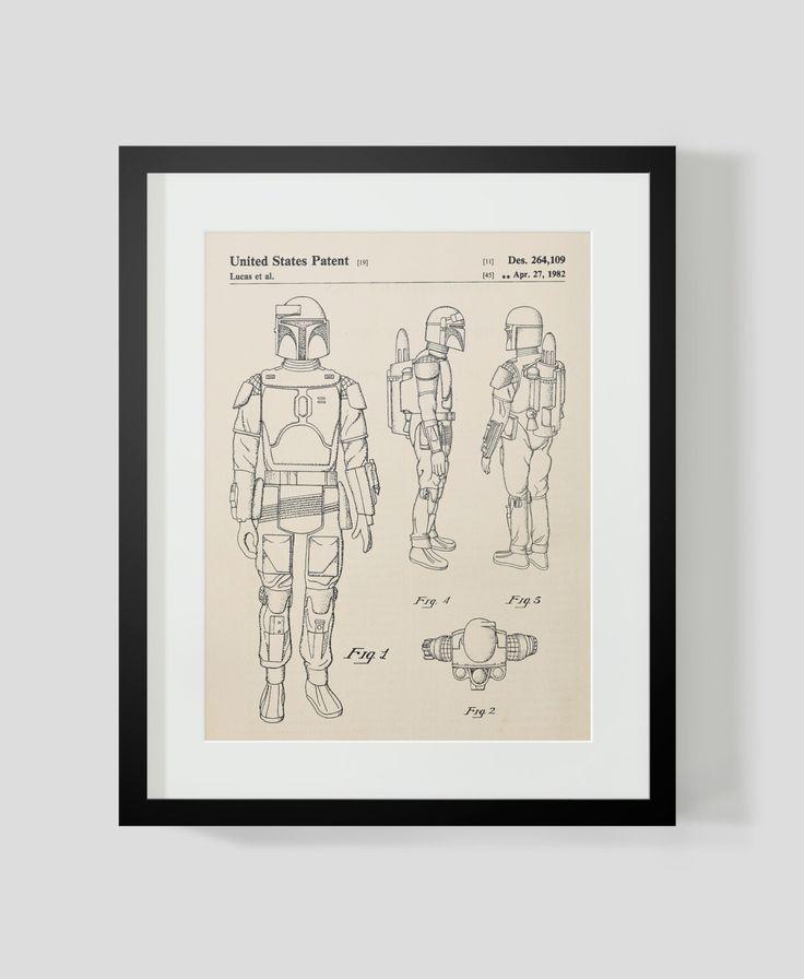 Star Wars Boba Fett Patent Art Print by michaelellisstudios on Etsy https://www.etsy.com/listing/252865761/star-wars-boba-fett-patent-art-print