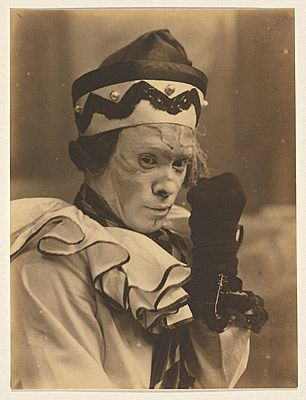 Nijinsky in the role of Petrouchka c.1913. Vaslav Nijinsky (also Vatslav born 12 March 1889-1890 Kiev, Russian Empire – died  8 April 1950  (aged 61) London, England) was a Polish ballet dancer and choreographer, cited as the greatest male dancer of the early 20th century.