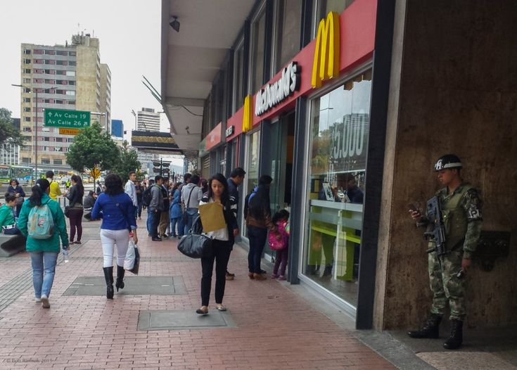 Everyone Loves The Free Wifi At McDonald's - Bogota, Colombia