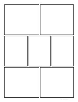 Comic Strip Template Pages for Creative Assignments. For my comic book kid.