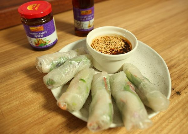 Prawn Rice Paper Rolls with Hoisin Sauce recipe - The Cooks Pantry