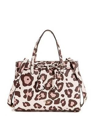 Leila Small Girlfriend Leopard-Print Satchel