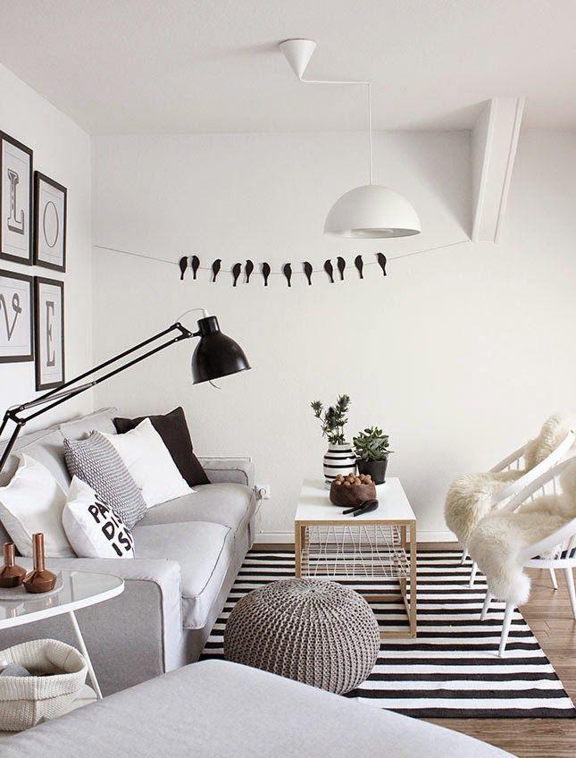 Un salón con encanto y un DIY para paredes en BLANCO Y NEGRO