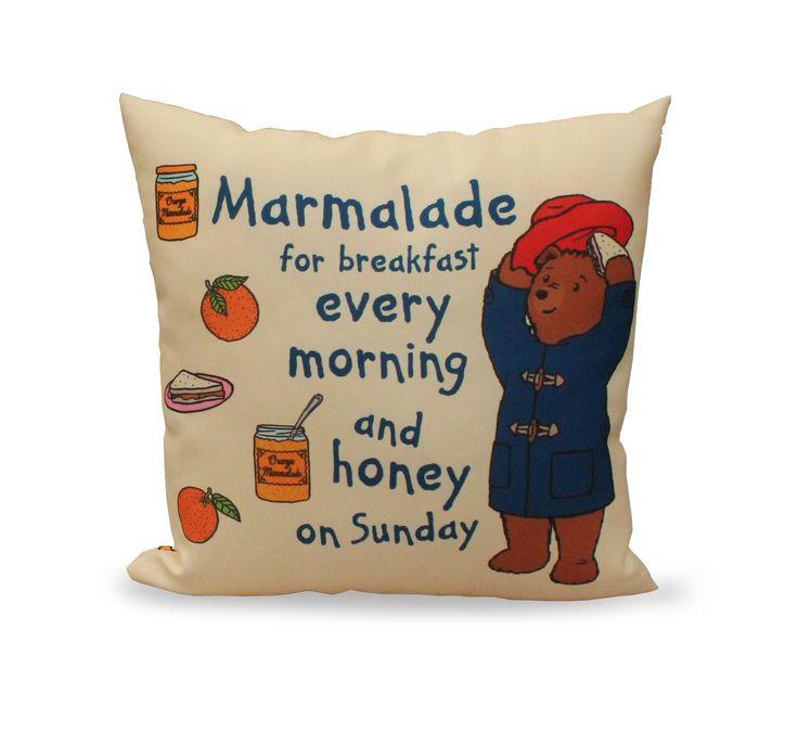 Paddington Bear Marmalade Cushion - Aldiss.com