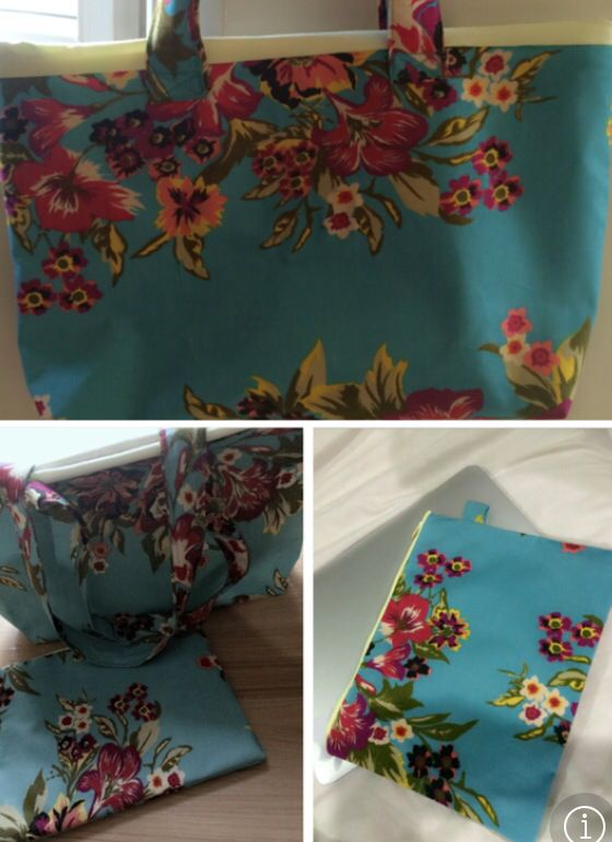 Floral tote and ipad casing #cottontime