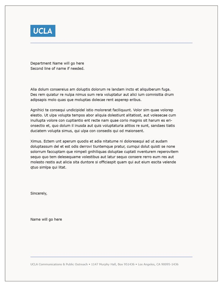 Cover Letter Template Ucla Cover Coverlettertemplate Letter Template Letterhead Template Word Letter Template Word Free Letterhead Templates