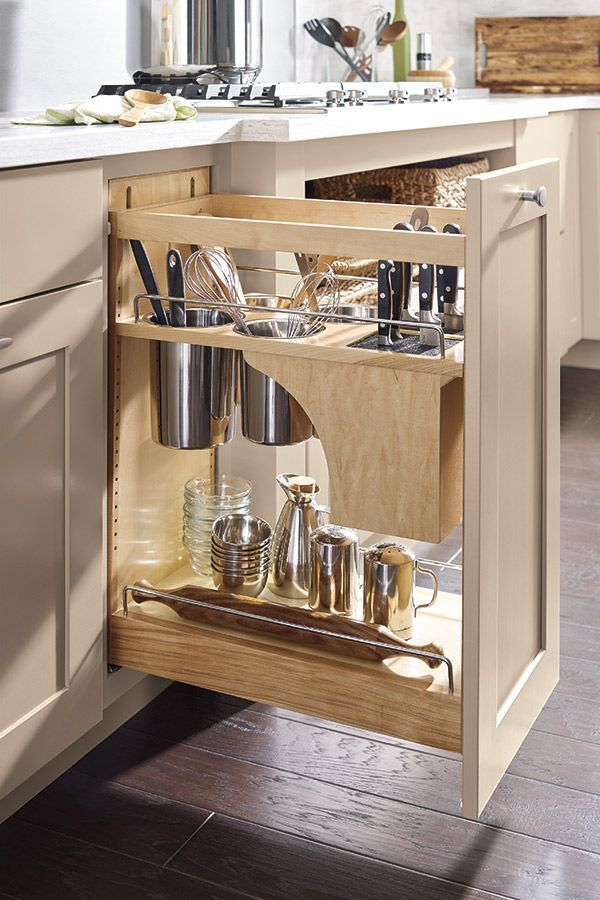 Super The Base Utensil Pantry Pullout Cabinet With Knife Block Has Home Interior And Landscaping Ponolsignezvosmurscom