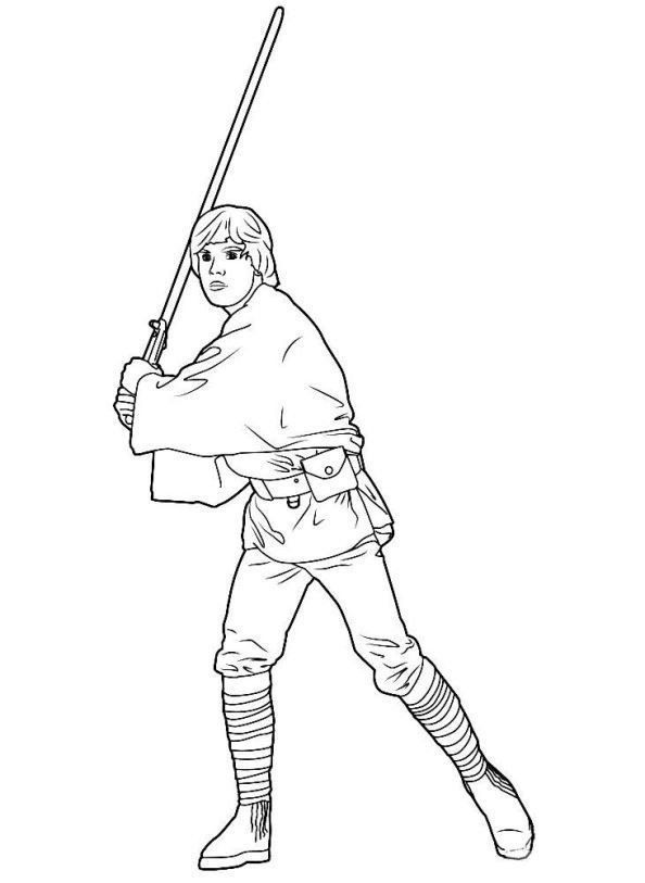 Luke Skywalker Coloring Pages Pin On Fun With Kids In 2020 Star Wars Colors Dinosaur Coloring Pages Football Coloring Pages