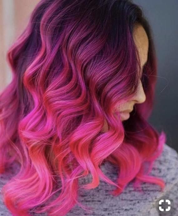 Hot Pink Magenta Clip in Hair Extensions,Magenta Hair, Pink Clip in Extensions, Human Hair, Ombre Ha