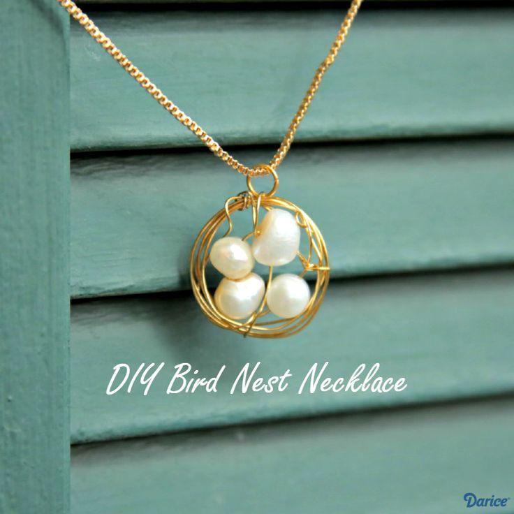 DIY Bird Nest Necklace Tutorial