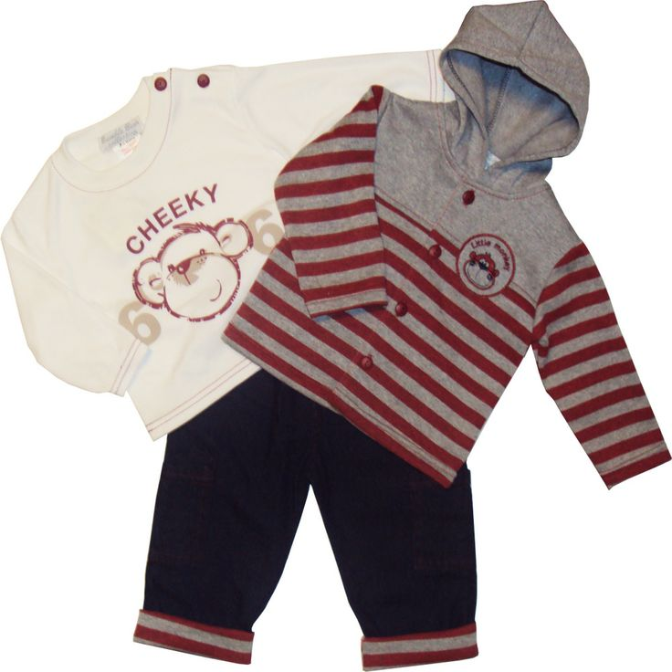 Poikavauvan 3-osainen setti www.vauvan-vaatteet.fi/poikavauvan-farkut-hupullinen-takki-paita-setti