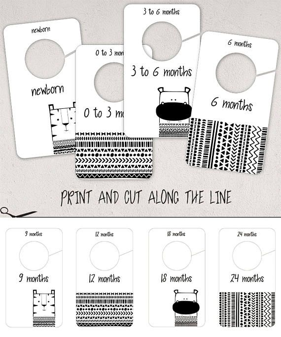 clothes divider template - best 25 baby closet dividers ideas on pinterest baby