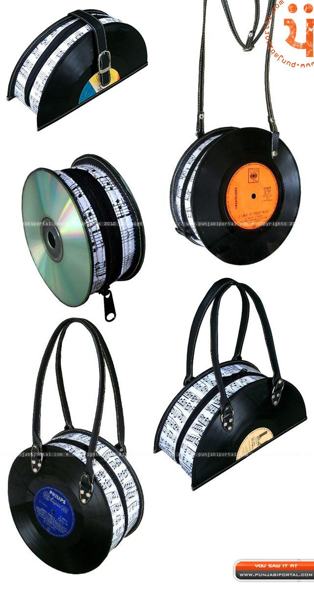 Polygraph record Bags recycled Neveh Milo