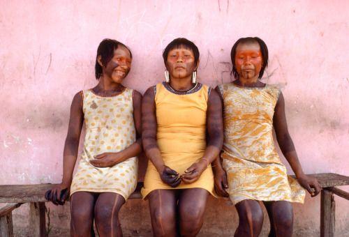 Kayapo women, Brazil 1983 by Miguel Rio