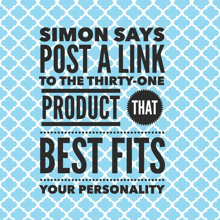 Simon Says: favourite Thirty-One product.  #ThirtyOne #ThirtyOneGifts #31Party…